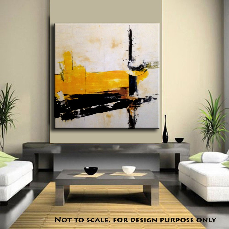 Handmade large abstract art painting on canvas minimalist for Modern art canvas painting