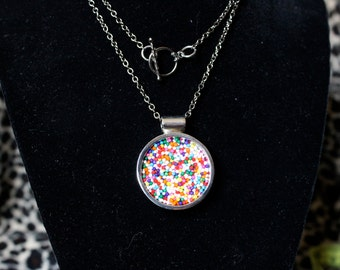 Sprinkle Resin Necklace