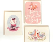 Set of 3 Valentine's Day Cards