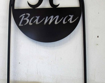 "Licensed University of Alabama ""Bama""  Metal Yard Sign"