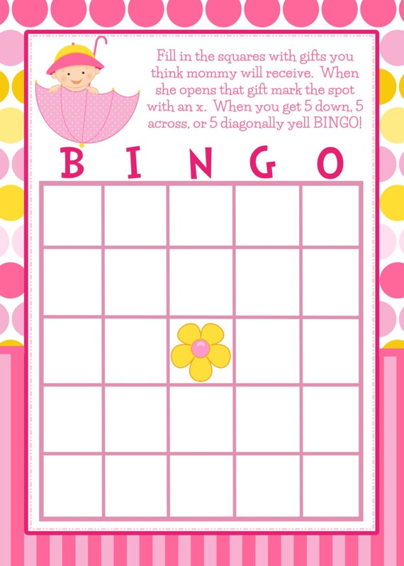 Custom Card Template  Free Printable Blank Bingo Cards Template