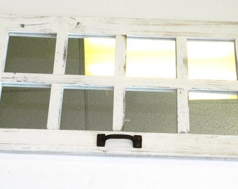 SALE 14 x 25 Barn Window Mirror (8 pane)