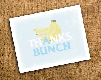 Thanks A Bunch Banana Thank You Cards set of 20 with Envelopes