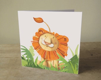 Illustrated Card: Lion