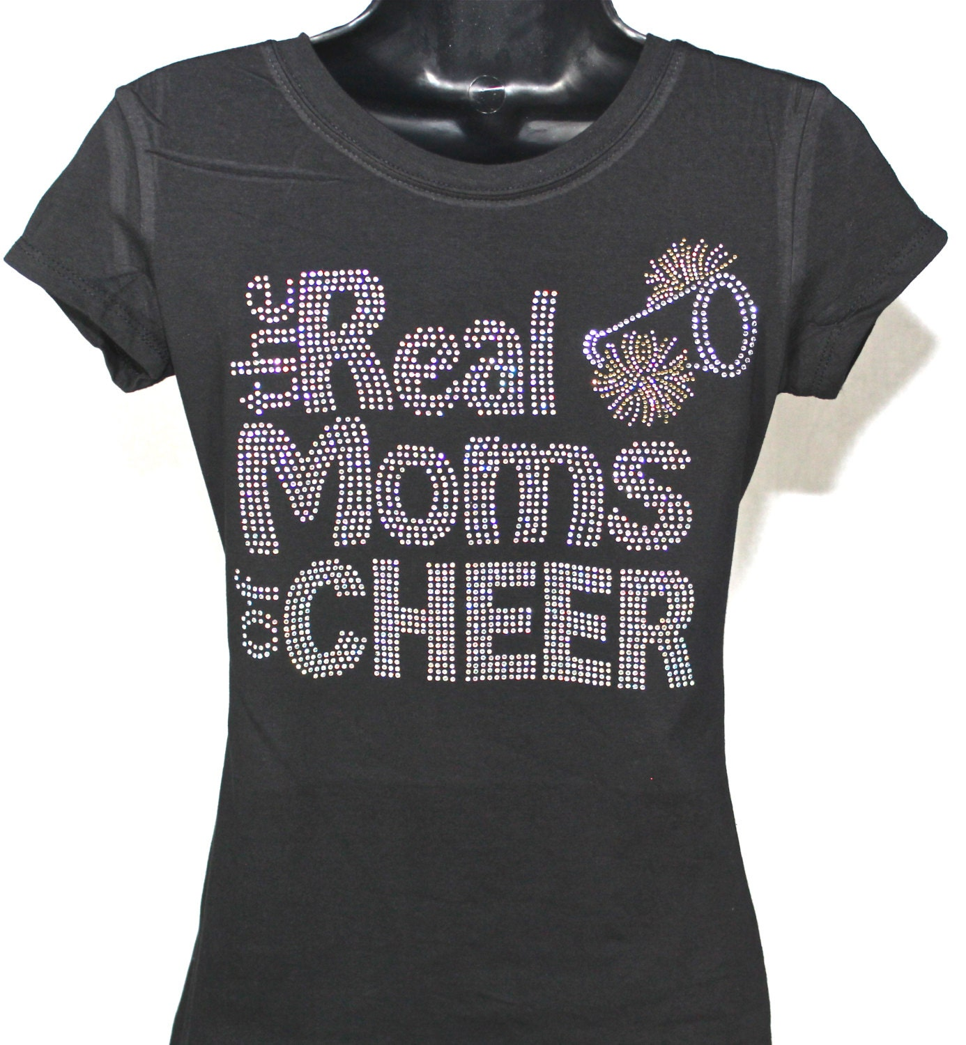 Cheer mom the real moms of cheer bling by theteeshirtmakers Cheerleading t shirt designs