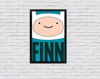 Adventure Time / Poster  / Finn / 12 x 18 Print