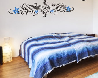 Musical Notes Wall Decal - Music Wall Decal - Home Decor - Wall Graphics - Vinyl Wall Sticker