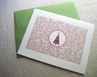 Christmas Tree Holiday Cards - Set of 10