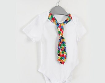 Tie onesie for boys baby - The Very Hungry Caterpillar clothing