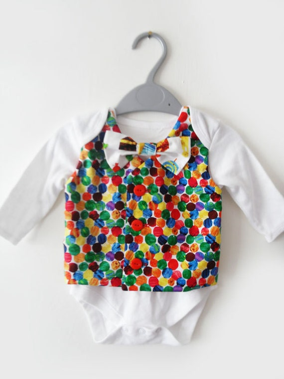 The very hungry caterpillar boys clothing vest baby onesie waistcoat