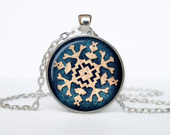 Snowflake Necklace Christmas Gifts New Year Pendant Christmas Jewelry, Xmax Necklace, Xmas Pendant