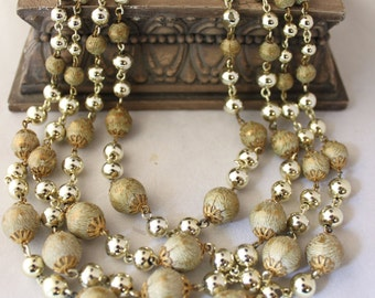 JAPAN,Vintage 50's multi strand necklace ,gorgeous!!