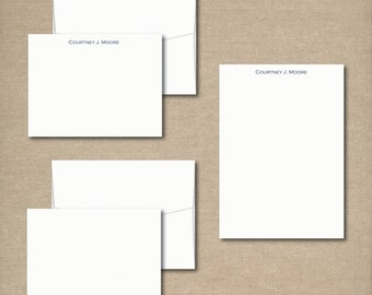 Complete Personalized Stationery Set - SIMPLY STATED - Personalized Mens Stationery / Stationary - choose your color