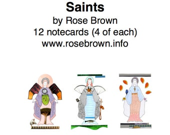 Pack of 12 Notecards: Saints