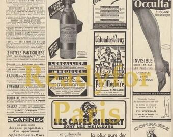 Instant Download : Vintage Newspaper 1920s - vintage ads download digital advertising - scrapbooking scrapbook clipart clip art scrap book