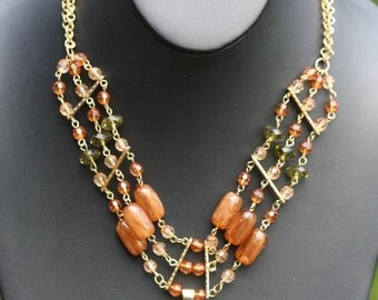Vintage Lucite multi strand necklace.