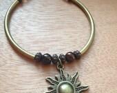 "Bronze Sun Bracelet - Approx. 7 1/2"" long"