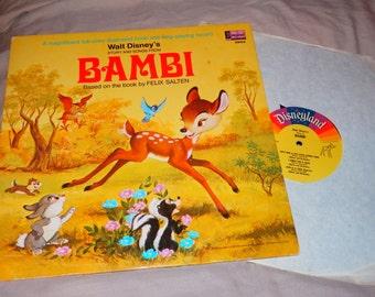 Vintage Disney Bambi Record