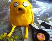 Makin' Bacon Pancakes - Jake the dog (Adventure Time) clay figurine with frying pan & bacon pancake.