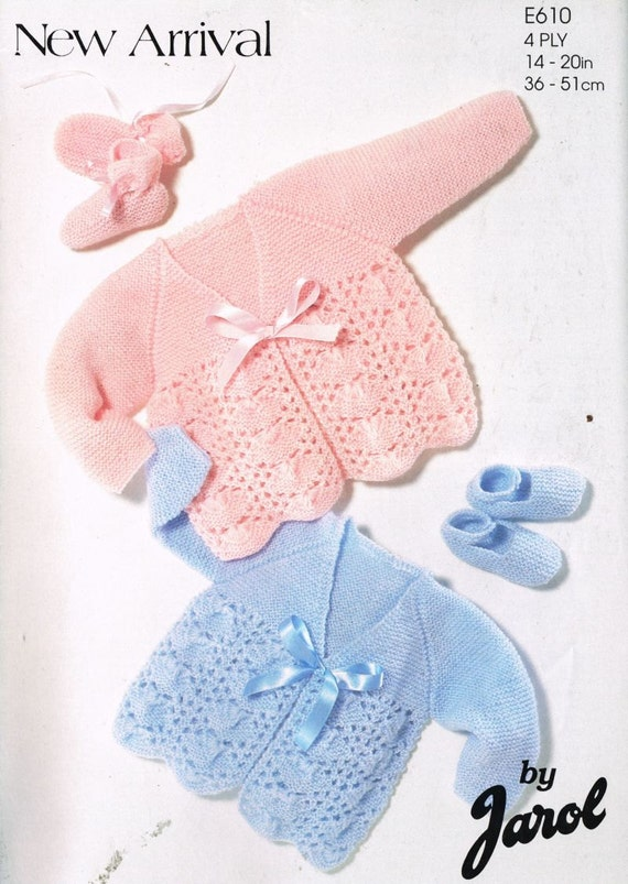 Jarol Knitting Patterns : Jarol 610 baby matinee coat vintage knitting pattern PDF