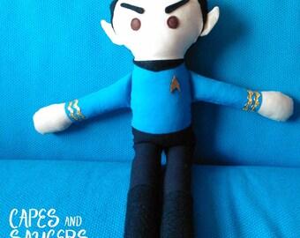 Soft, Stuffed, Mister Spock Ragdoll - Star Trek, Plush, Toy, Rag, Doll, Spock, Vulcan, TOS, The Original Series, Into Darkness