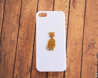 White iPhone 5 Case iPhone 5c Cat White Gold iPhone 7 Plus 6s Cat Hard Case iPhone 7 Plus Cat iPhone iPhone 6s S5 iPhone 6 White Case Cat