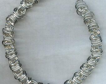 Orbit Bracelet in Argentium Silver