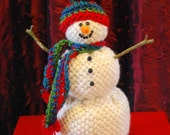 Hand-woven Snowman,  Winter Snowman Decoration, Snowman Holiday Decoration, Christmas Snowman