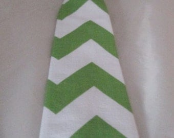Baby Boy/ Toddler Green Chevron Tie.  It will fit a baby to a 2 year old.