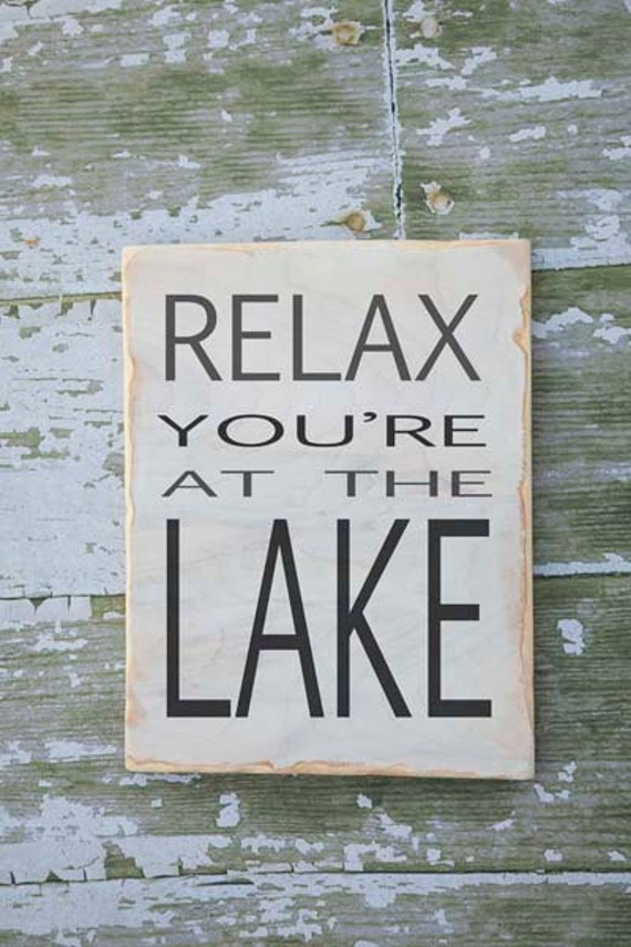 lake house decor lake sign lake decor keep calm pretend lake