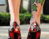 Red and Black Harley Quinn Comic Heels