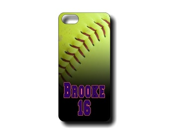 Personalized Softball iphone 4/4s, iphone 5/5s, iphone 5c and iphone 6 and 6 PLUS TOUGH case - Fastpitch iphone case or Tough Case