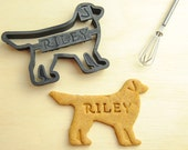Golden Retriever Cookie Cutter Custom Treat Personalized Pet