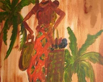 African Lady II. Acrylic on Canvas. 18x24