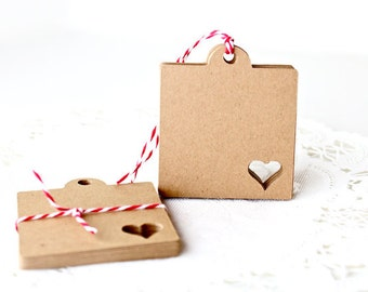 Your Choice of Color - Perfect Wedding Tags, Favor Tags, Valentine Tags, Merchandise Tags, Kraft Tags, Gift Tags.