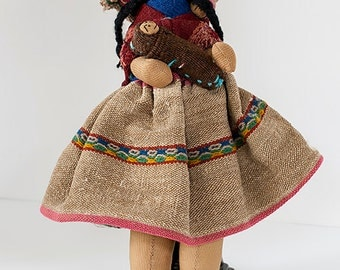 Vintage Handmade Doll from Mexico