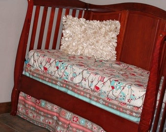 Items Similar To Coral Toddler Set Owl Toddler Bedding