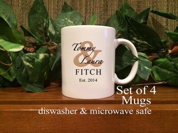 Customized Wedding Gift Mugs : Personalized Wedding Gift, Personalized Coffee Mugs, Established ...