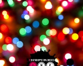 Multi-Colored Bokeh 4ft x 4ft Photography Backdrop, Newborn Photo Backdrop, Holiday Photography Backdrop, ADDTL SIZES AVAILABLE!  {xmas15}