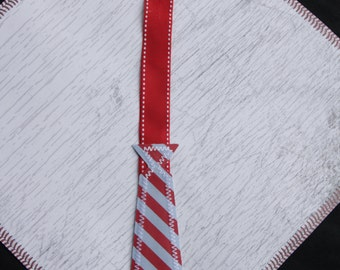 Pacifier Clip - Red and Blue Necktie