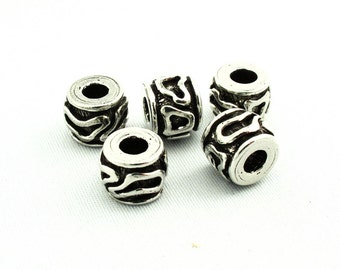 Geometric Antique Silver Beads SKU#BGE0010 Quantity: 25