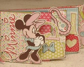Minnie Mouse Chipboard Book Directions Instructions - Need Expression machine, Mickey & Friends and Mickey Font cartridges. cartridges