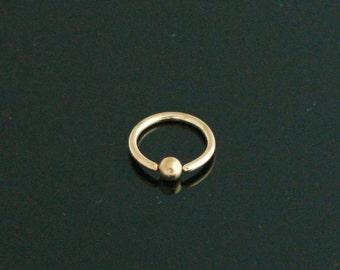 Gold Captive Bead Ring Body Piercings 18g