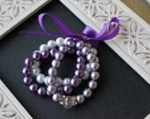Purple Baby Bracelet Set, Baby Bracelet, Bracelet Set, Baby Pearl Bracelet, Sofia the first bracelet,  Pearl Bracelet