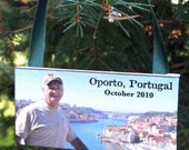 VACATION - Personalized Photo Ornament on Canvas, Special Trip, Special Event, with EXPEDITED SHIPPING