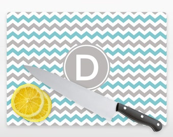 Personalized Glass Cutting Board Personalized With  Initials or Name YOU CHOOSE COLOR