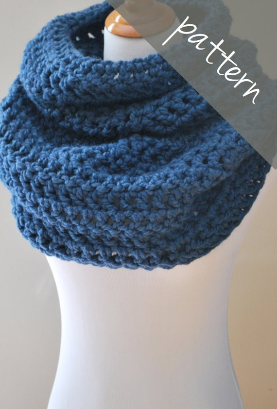 Chunky Crochet Poncho Free Pattern : Crochet PATTERN - Cowl Poncho Cape - Chunky Cowl - Easy ...