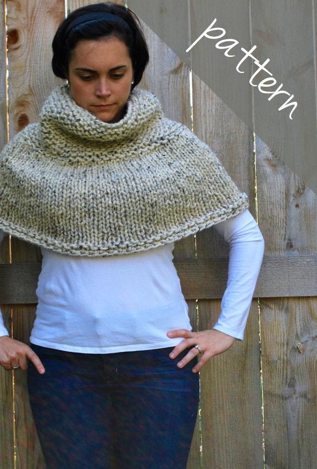 Simple Poncho Knitting Pattern : Knitting PATTERN - Poncho Cape - Chunky Cape - Easy from AshleyLillisHandmade...