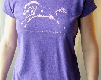 Freedom, horse tee junior fit purple
