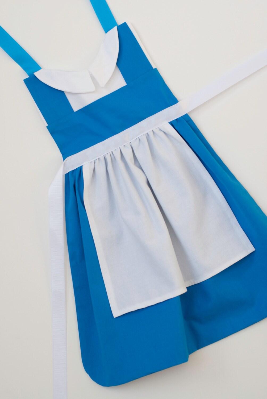 Blue apron dress -  Zoom
